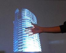 Sans doute l'hologramme le plus proche de Star Wars et Iron Man © iO2 Technology