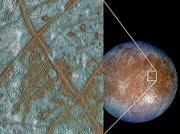 Photographie d'Europe pris par la sonde Galileo © ESA