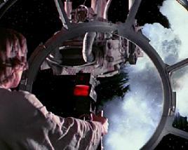 Explosion d'un chasseur TIE dans Star Wars © Lucasfilm