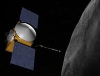 Vue d'artiste d'OSIRIS-REX déployant son bras © NASA