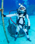 Un aquanaute de la mission NEEMO © NASA