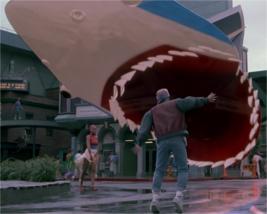 L'hologramme gigantesque de Retour Vers Le Futur 2 © Universal Pictures