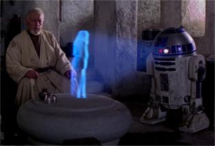 L'hologramme du droïde R2D2 © Lucasfilm