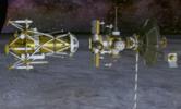 Vue d'artiste de la séparation de la sonde et du module © Stone Aerospace