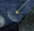 Vue d'artiste de la sonde se frayant un chemin grâce à ses capteurs © Stone Aerospace
