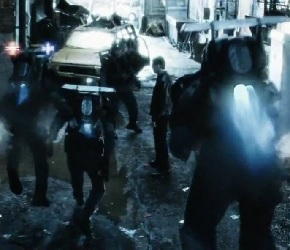 Les jetpacks de la brigade pré-crime dans Minority Report © 20th Century Fox, DreamWorks SKG