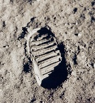Le premier pas de Neil Armstrong sur la Lune © Nasa