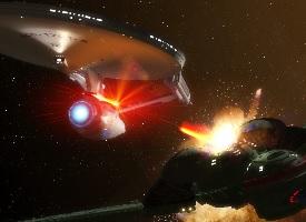 Une bataille spatiale dans Star Trek © Paramount Pictures