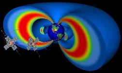 Les deux satellites EMFISIS (vue d'artiste) © Nasa