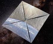 Vue d'artiste de LightSail 1 © The Planetary Society
